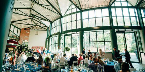 The Dicke Transportation Center wedding Dayton