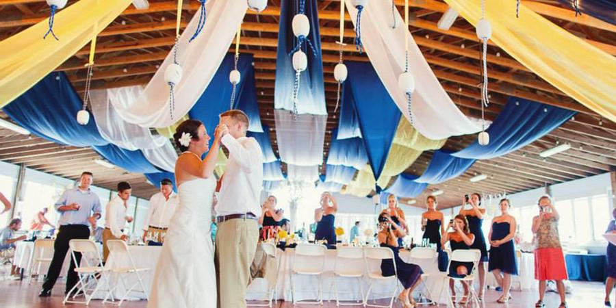 The Pavilion at Pirate's Cove Marina wedding Outer Banks