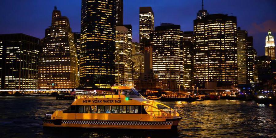New York Water Taxi wedding Manhattan