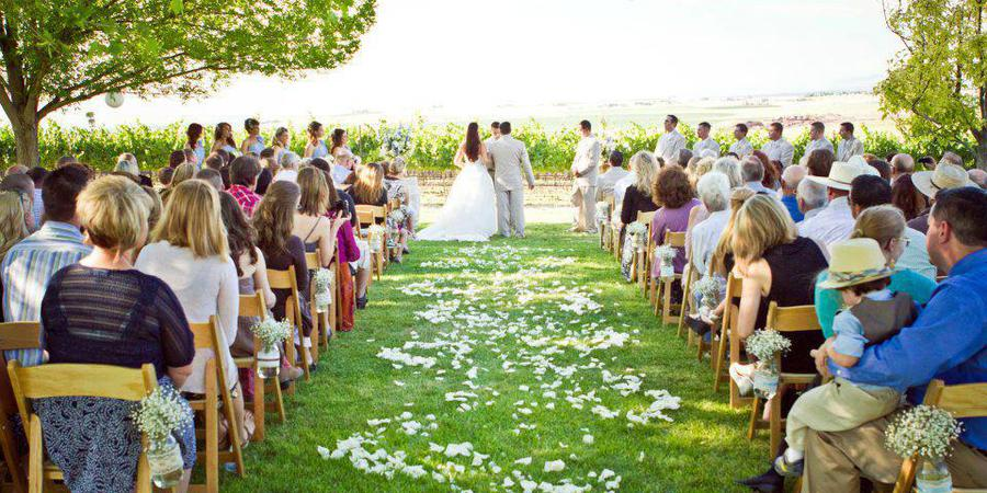 Sawtooth Winery wedding Idaho