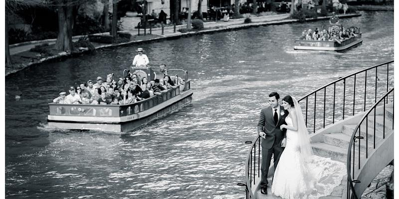 The Arneson River Theatre wedding San Antonio