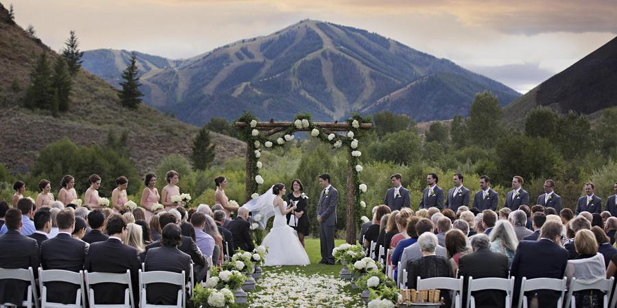 Trail Creek Pavillion at Sun Valley Resort wedding Idaho