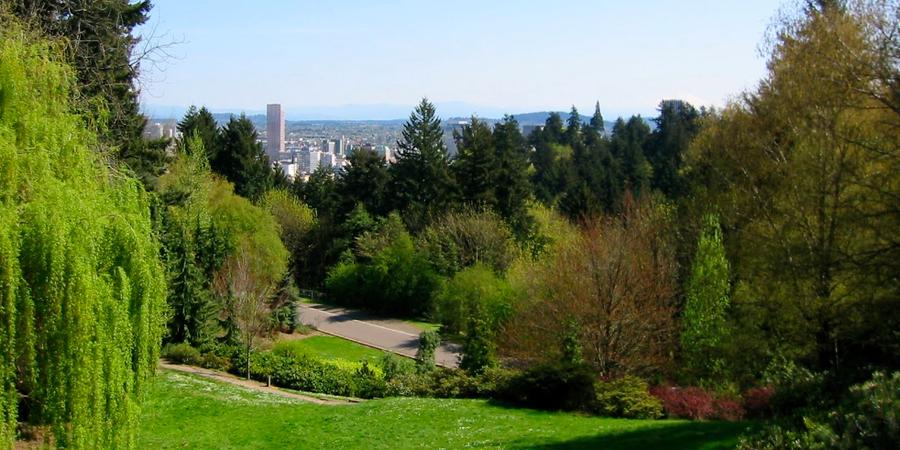 Washington Park Amphitheater wedding Portland