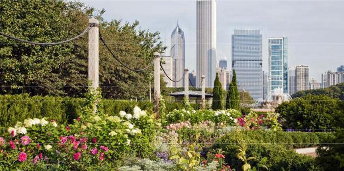 The Tiffany & Co. Foundation Celebration Garden wedding Chicago