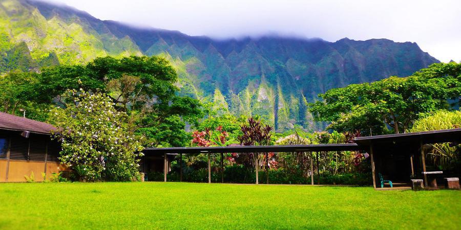 Ho`omaluhiaBotanical Garden wedding Oahu