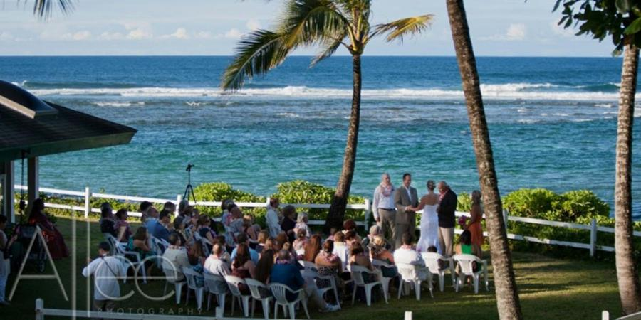 Hanalei Colony Resort wedding Kauai