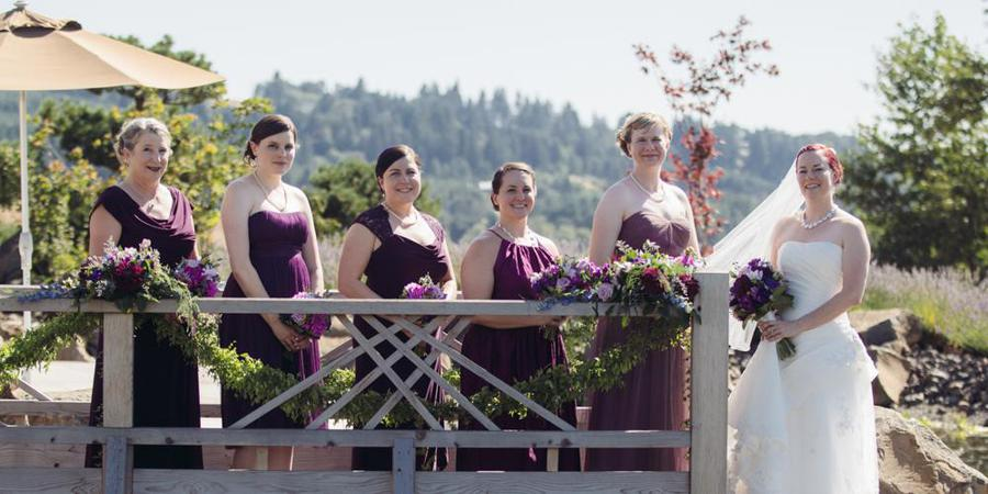Saffron Fields Vineyard wedding Portland