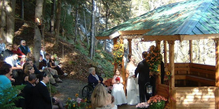 Jeudevine Falls wedding Vermont