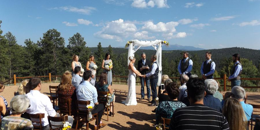 TihsreeD Lodge wedding Colorado Springs