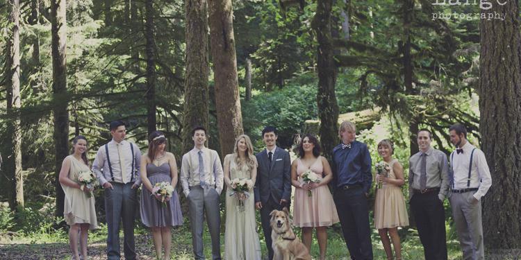 South Falls Lodge wedding Portland