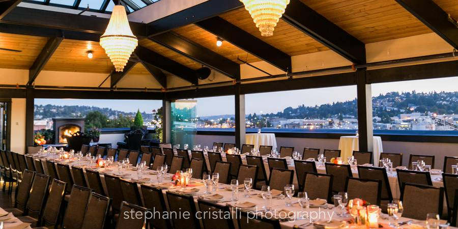 Olympic Rooftop Pavillion at Stoneburner wedding Seattle