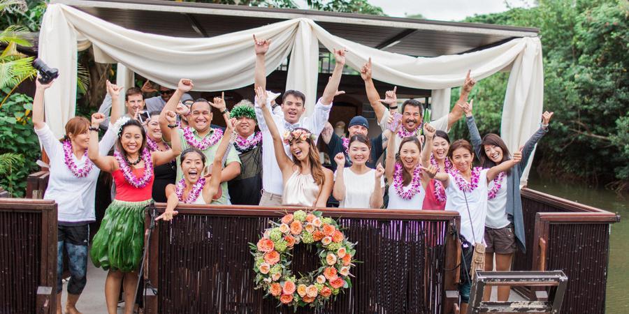 Paradise Bay Resort wedding Oahu