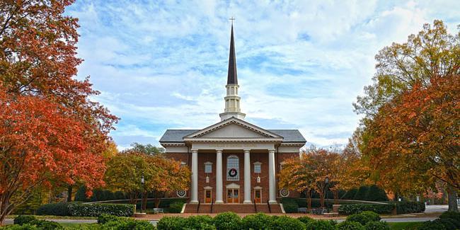 Charles E. Daniel Memorial Chapel wedding Greenville