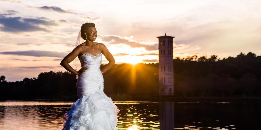 Furman University Bell Tower wedding Greenville