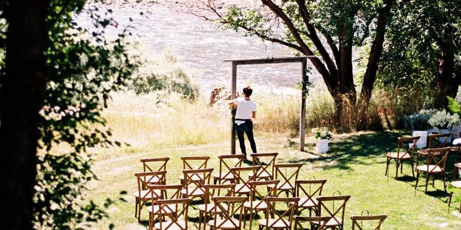 Mackay Bar Ranch wedding Idaho