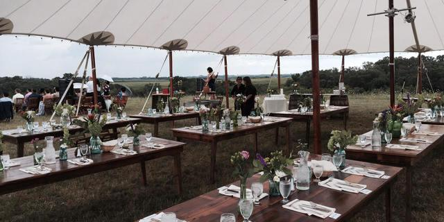 Prevailing Winds Lodge wedding Madison