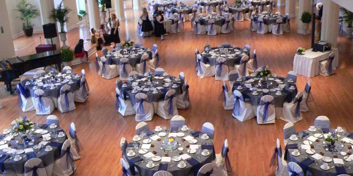 Kimball Ballroom at Stephens College wedding St. Louis