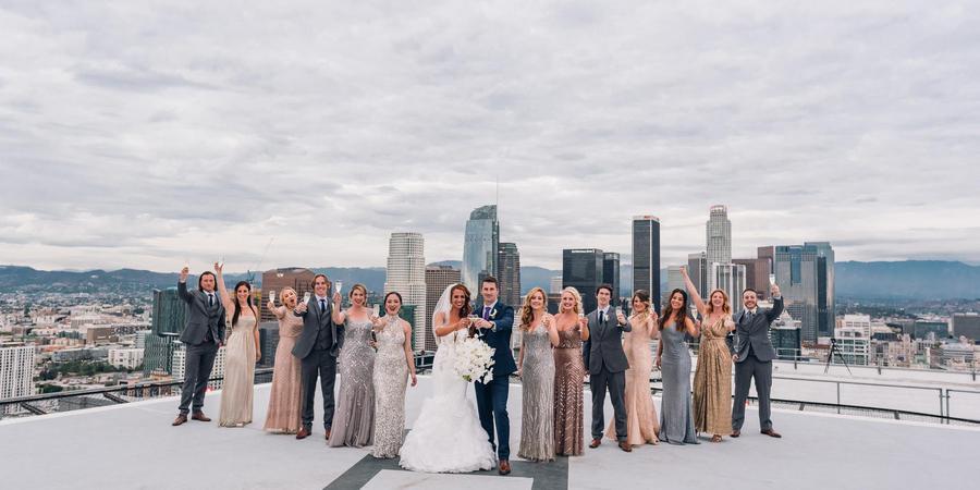 South Park Center - City View Penthouse wedding Los Angeles