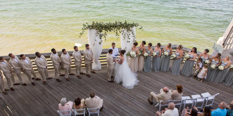 Jennette's Pier wedding Outer Banks