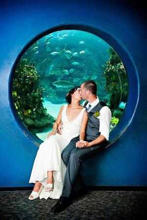 North Carolina Aquarium of Fort Fisher wedding Wilmington