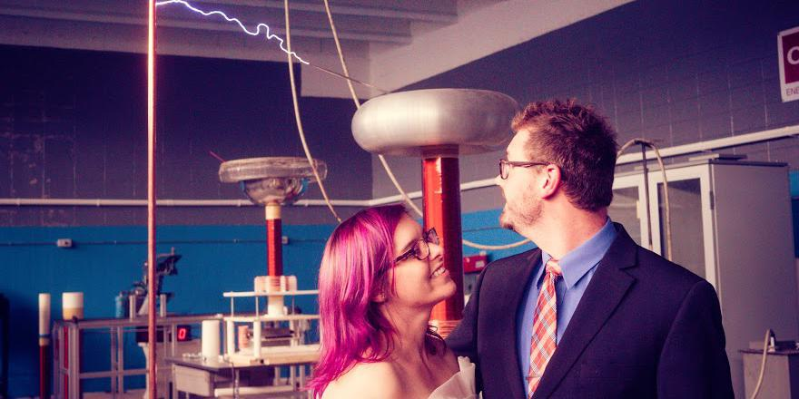 The Geek Group National Science Center wedding Grand Rapids
