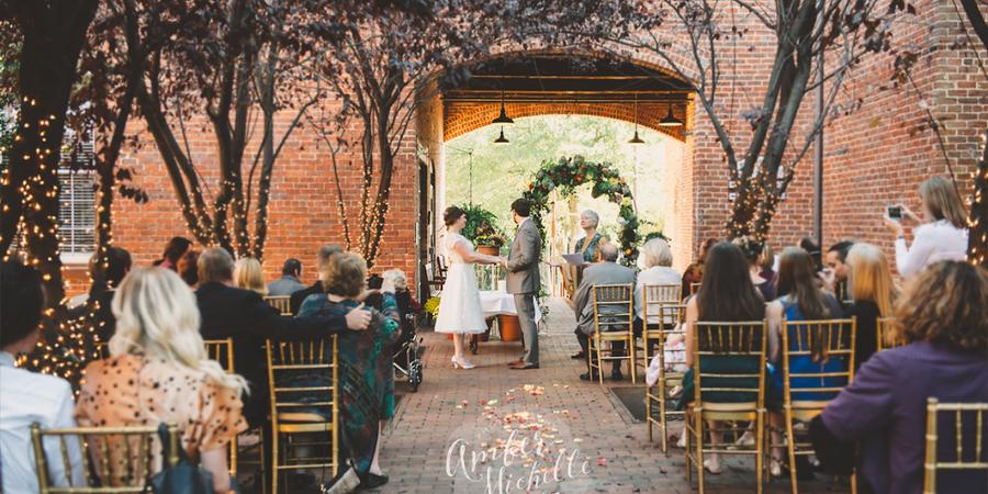 Brookstown Inn wedding Greensboro/Triad