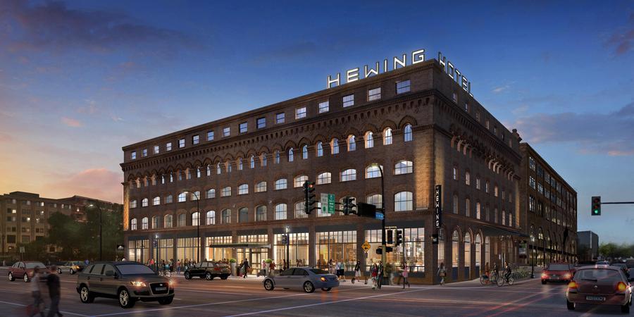 Hewing Hotel wedding Minnesota