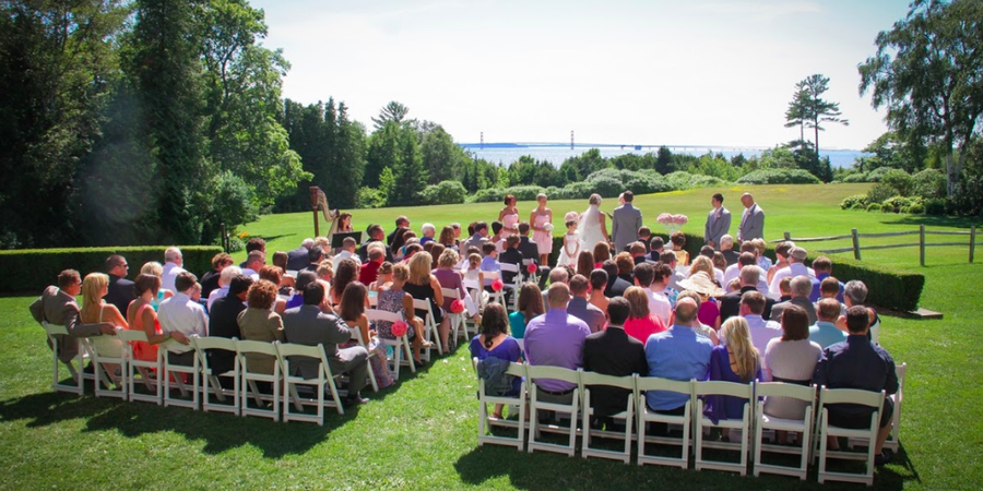 The Inn at Stonecliffe wedding Mackinac Island