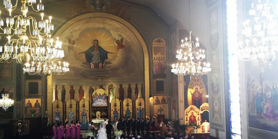 St. Nicholas Antiochian Orthodox Christian Cathedral wedding Los Angeles