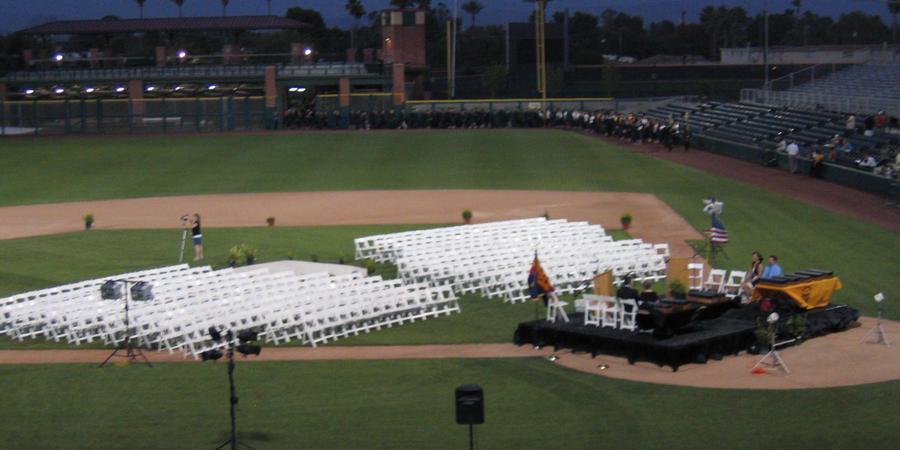 Scottsdale Stadium wedding Phoenix/Scottsdale