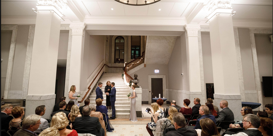 The Newberry Library wedding Chicago