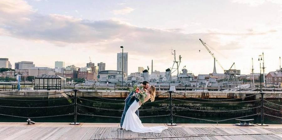 Courageous Sailing wedding Boston