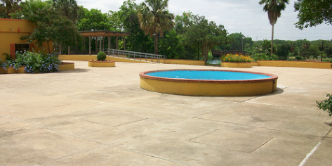 Fiesta Gardens Building And Patio At Edward Rendon Sr Metro Park