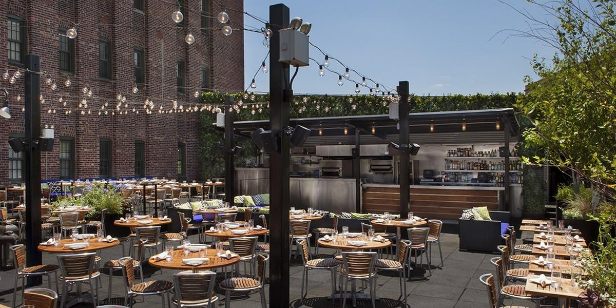 Stk downtown rooftop weddings get prices for wedding for Small wedding venues ny