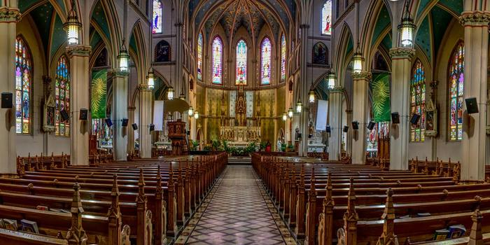Basilica of Ste. Anne de Detroit wedding Detroit