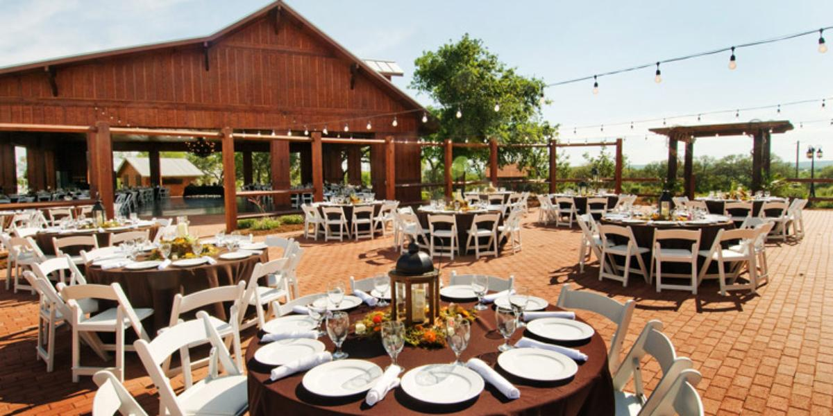 The grande hall at hofmann ranch weddings for Grand ranch