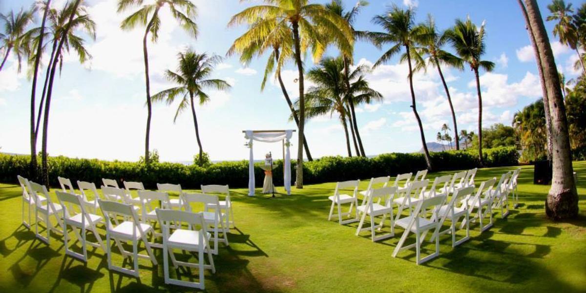 Beach Wedding Ceremony Oahu: Lanikuhonua Cultural Institute Weddings