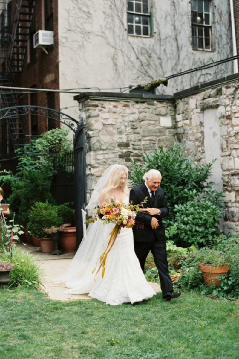 New York Marble Cemetery wedding venue picture 9 of 16 - Photo by: Kate Ignatowski Photography