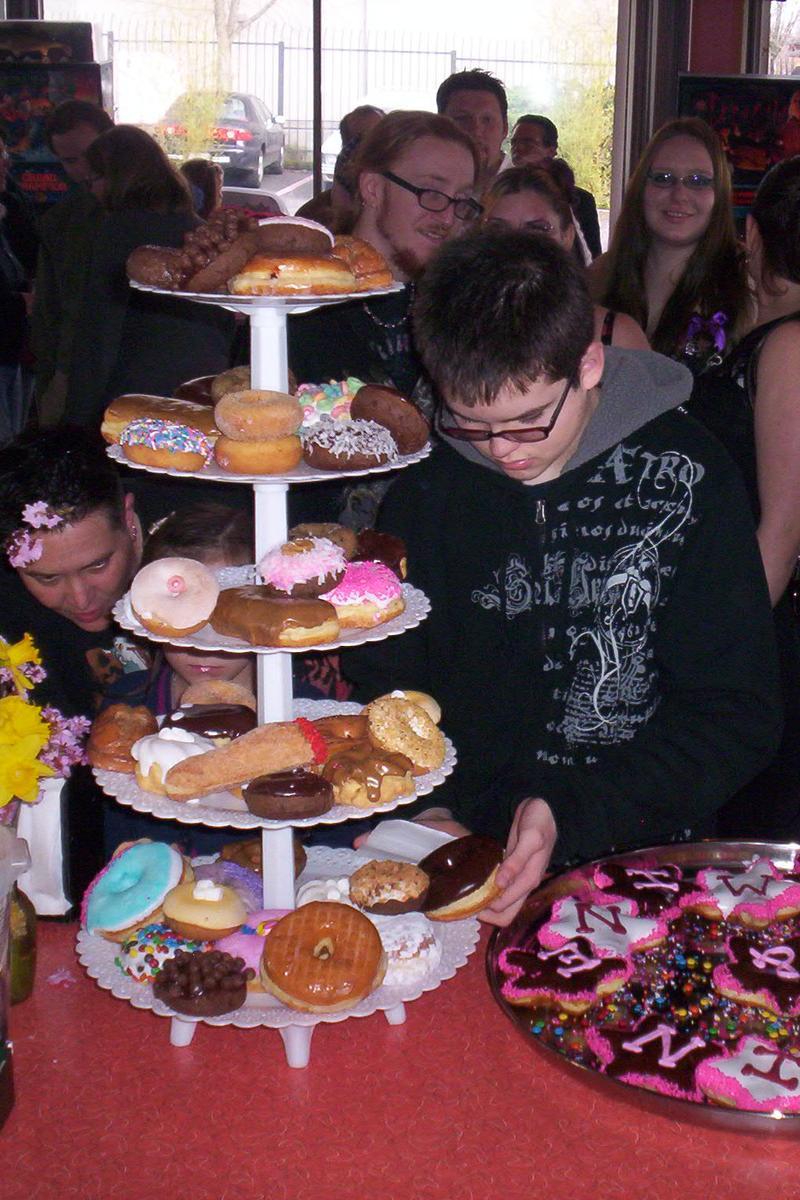 Voodoo doughnuts wedding