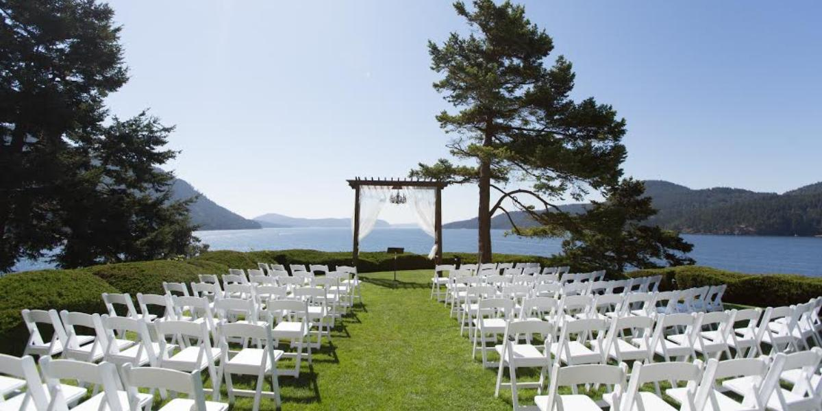 Outdoor Wedding Venues Washington State: Rosario Resort & Spa Weddings