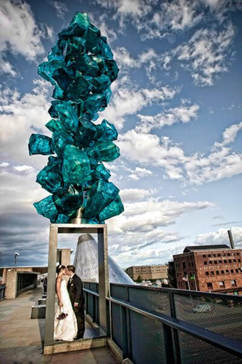 Museum of Glass wedding venue picture 9 of 16 - Photo by: Wallflower Photography