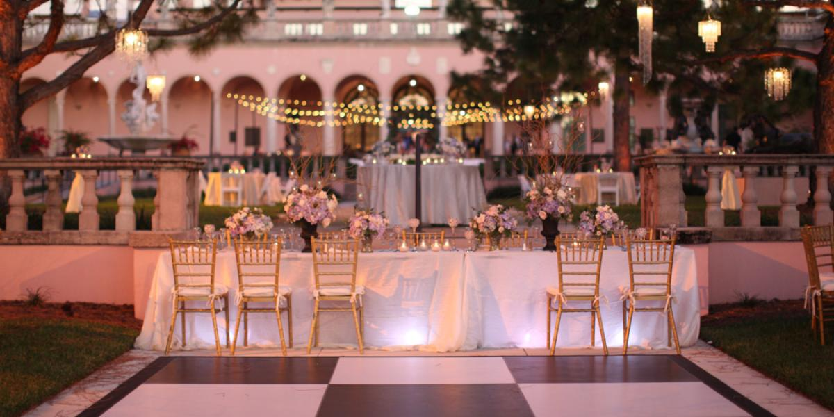 The ringling museum of art courtyard weddings for Wedding venues huntsville al