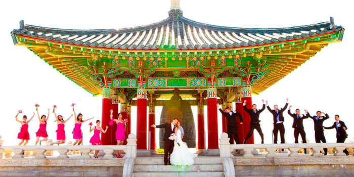 Korean Friendship Bell At Angels Gate Park Wedding Venue Picture 5 Of 16 Photo By
