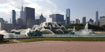 North Rose Garden at Buckingham Fountain weddings in Chicago IL