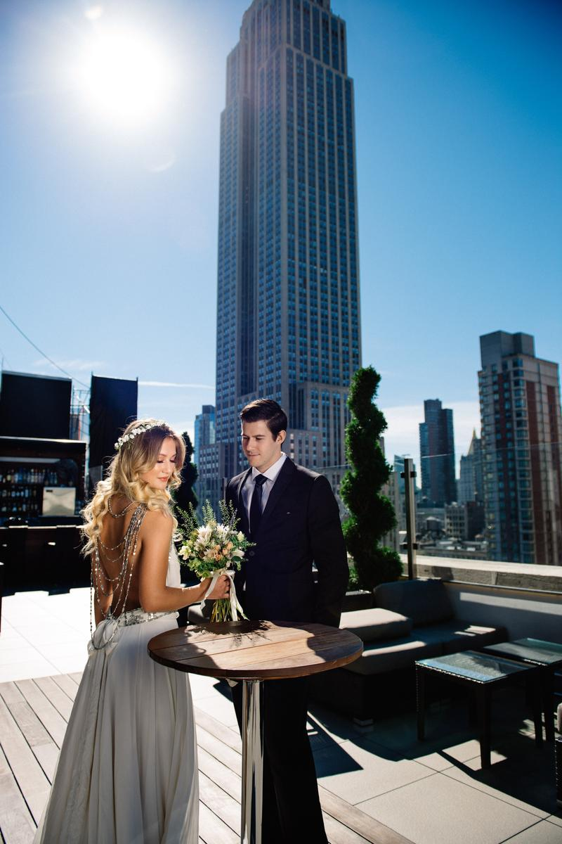 Rooftop wedding venues in nyc - Monarch Rooftop Wedding Venue Picture 3 Of 16 Provided By Kleinfeld Bridal Jiyang
