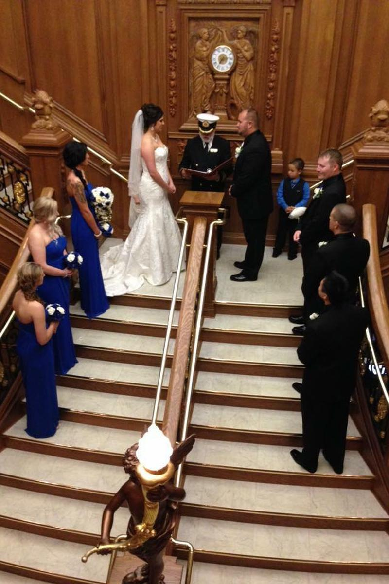 Grand Staircase Ceremonies at the Titanic Museum wedding venue picture 5 of 9 - Provided by:  Grand Staircase Ceremonies at the Titanic Museum