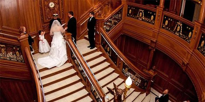 Grand Staircase Ceremonies at the Titanic Museum wedding venue picture 4 of 9 - Provided by:  Grand Staircase Ceremonies at the Titanic Museum