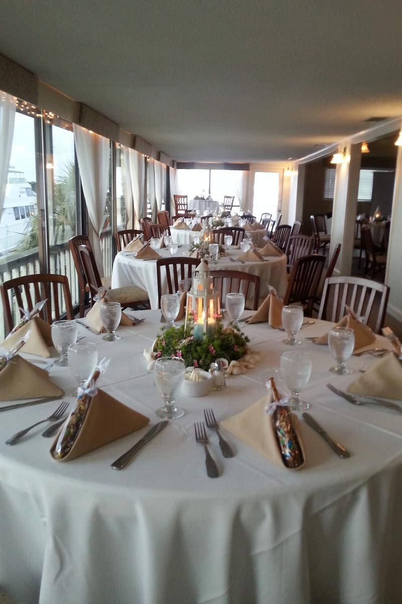 The HarborView Room above Kingfish Grill on the Water Weddings